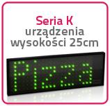 Wyświetlacze jednokolorowe Seria K