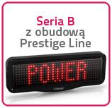 Wyswietlacze jednokolorowe Seria B z obudową Prestige Line