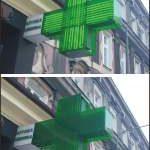 krzyż neonowy