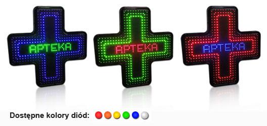 krzyze apteczne LED