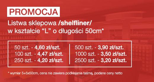 promocja listwy sklepowe shelflinery Poznań