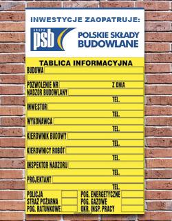 tablica budowlana z reklama poznań