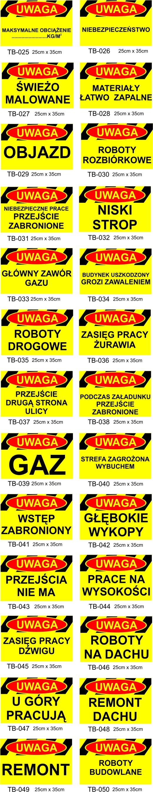 tablice budowlane Poznań