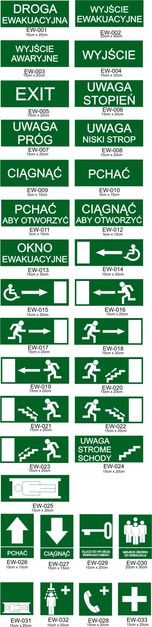 tablice znaki ewakuacyjne Poznań