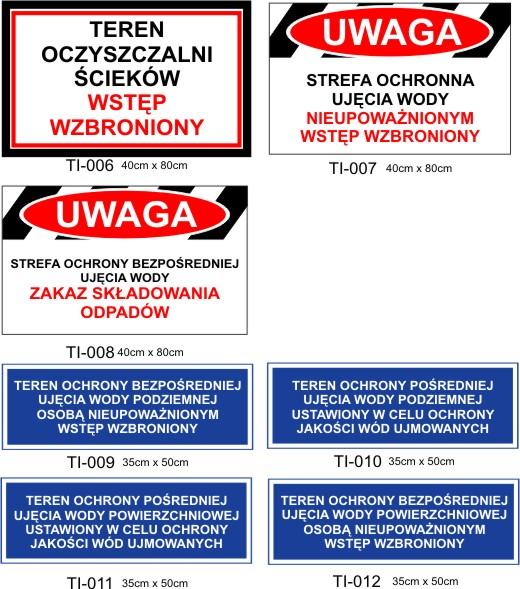 tablice dla wodociągów poznań