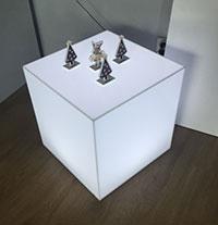 podświetlany box kubik z plexi