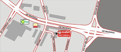 mapa dojazdu do Mabit w Poznaniu
