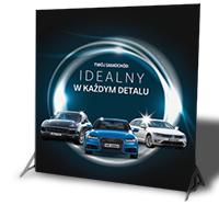 ścianka reklamowa podświetlana