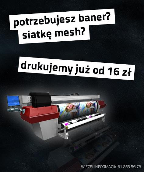 banery, siatki mesh Poznań, druk wielkoformatowy