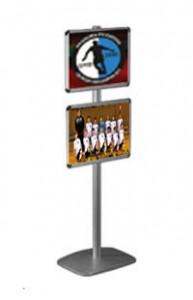 stojak na dwa plakaty z ramkami OWZ