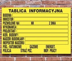 Tablica informacyjna budowlana Poznań