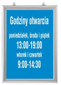 dwustronna ramka na plakaty Poznań