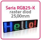 Wyświetlacze 15-kolorowe Seria RGB25-K