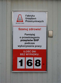 Tablica naścienna w ramie aluminiowej Poznań
