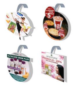 przykłady woblerów reklamowych