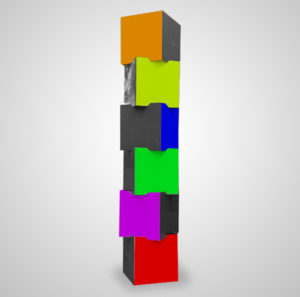 totem tekturowy cube