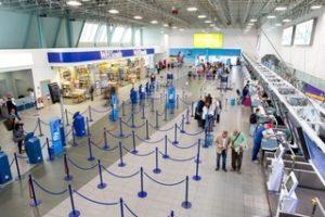 Barierki odgradzające lotnisko